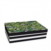 Caixa Para Presente Cromus Reta Baixa Folhagens G 34X25X6 13500087-G 26701