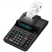 Calculadora de Mesa Com Bobina Bivolt Preta DR-120R-BK-B-E-DC Casio 26601