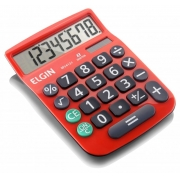 Calculadora de Mesa 8 Digitos Vermelha MV-4131 Elgin 23875