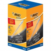 Caneta Esferográfica Azul Fine Plus Cristal 0.8 Caixa Com 50 Un. 1106459 Bic 15430