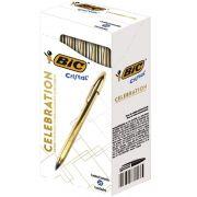 Caneta Esferográfica BIC Celebration Ouro / Dourada Tinta Azul 25 Un. 970907 28522