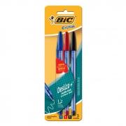 Caneta Esferográfica Cirstal Soft 1.2 Azul + Preto + Vermelho 1105845 Bic 14316