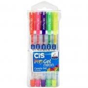 Caneta Esferográfica CiS Pop Gel 5 Cores Sortidas 54.8700 27177