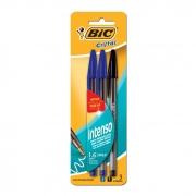 Caneta Esferográfica Cristal Bold 1.6 Azul + Azul + Preto 1106065 Bic 13863