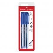 Caneta Esferográfica Faber-Castell Trilux 3 Un Azul 032 23928