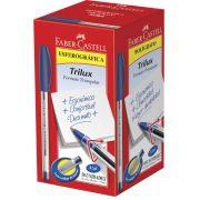 Caneta Esferográfica Faber-Castell Trilux Azul 50 Un. 34FC/AZ 04369