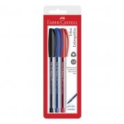 Caneta Esferográfica Faber-Castell Trilux Azul + Preto + Vermelho 032 23929