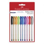 Caneta Esferográfica Faber-Castell Trilux Colors 10 Cores SM/032ESC10 27170