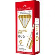 Caneta Esferografica Faber-Castell Trilux Colors 12 Un. Ouro 032/OURO 28030