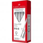 Caneta Esferografica Faber-Castell Trilux Colors 12 Un. Prata 032/CHA 28031