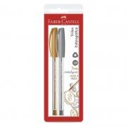 Caneta Esferográfica Faber-Castell Trilux Colors Prata/Ouro SM/032PO 27169