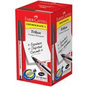 Caneta Esferográfica Faber-Castell Trilux Preta 50 Un. 34Fc/Pr 04370