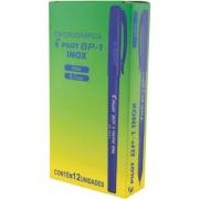 Caneta Esferográfica Pilot BP-1 0.7mm Inox Azul 12 Un. 22953