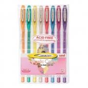 Caneta Gel Uniball Angelic Color Estojo 8 Cores Um120/Ac-8 29164