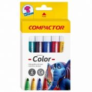 Pincel Compactor Color Estojo 6 Cores 02809