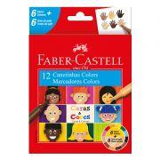 Caneta Hidrográfica Faber-Castell 12 Cores Caras e Cores 15.0112CCZF 27633