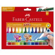Caneta Hidrográfica Faber-Castell 12 Cores Jumbo Triangular 150212J 26411