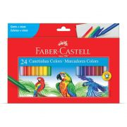 Caneta Hidrográfica Faber-Castell 24 Cores Regular 0124CZA 18084
