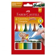 Caneta Hidrográfica Faber-Castell 6 Cores Jumbo Triangular 150206J 26674