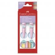Caneta Hidrográfica Faber-Castell 6 Tons Pastel Ponta Vai e Vem 15.0906VVZF 26247