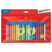 Caneta Hidrografica Faber-Castell Vai e Vem 24 Cores 15.0124VVZF 28036