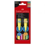 Caneta Hidrografica Faber-Castell Vai e Vem 6 Cores Neon 15.1306VVZF 28043