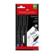 Caneta Hidrográfica Fine Pen Faber-Castell 3 Cores Supersoft Bpss/Es3Zf 30212