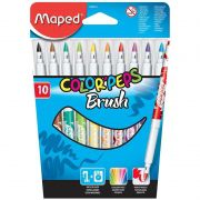 Caneta Hidrográfica Maped 10 Cores Ponta Pincel Brush 848010 25716