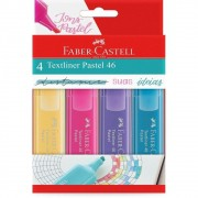 Caneta Marca Texto Faber-Castell Textliner 4 Tons Pastel MT/15464 29378
