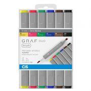 Caneta Marcador CiS Graf Duo Brush Estojo 6 Cores Basicas 60.8600 29198
