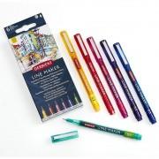 Caneta Marcador Derwent Line Maker Colour 6 Cores 315176 29480