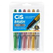 Caneta Pen Brush CiS Dual Brush 6 Cores Metallic 58.0800 27297