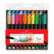 Caneta Pen Brush Faber-Castell Supersoft 20 Cores 15.0720 30211