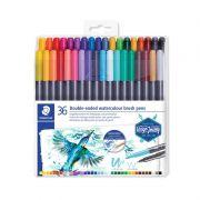 Caneta Pen Brush Staedtler Dual Brush Aquarelavel 36 Cores 3001 Tb18 29269