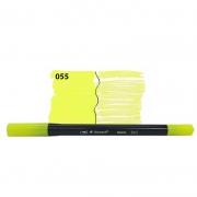 Caneta Pincel Bismark Dual Brush Dualtip Amarelo Neon PK0100C 055 27030