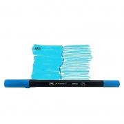 Caneta Pincel Bismark Dual Brush Dualtip Azul Claro PK0100C 451 27038