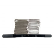 Caneta Pincel Bismark Dual Brush Dualtip Cinza Claro PK0100C N71 27050
