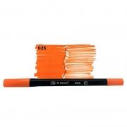 Caneta Pincel Bismark Dual Brush Dualtip Laranja 025 PK0100C 025 27029