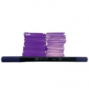 Caneta Pincel Bismark Dual Brush Dualtip Lilas Escuro PK0100C 535 27040