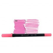Caneta Pincel Bismark Dual Brush Dualtip Rosa Neon PK0100C 725 27045