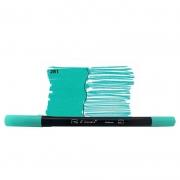 Caneta Pincel Bismark Dual Brush Dualtip Verde Agua PK0100C 281 27035