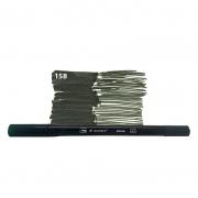 Caneta Pincel Bismark Dual Brush Dualtip Verde Escuro PK0100C 158 27033