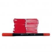 Caneta Pincel Bismark Dual Brush Dualtip Vermelho PK0100C 905 27047