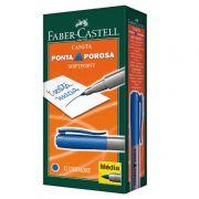 Caneta Ponta Porosa Faber-Castell Softpoint Azul 12 Un. SPB/AZZF 04976