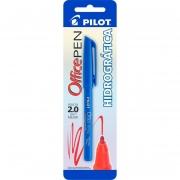 Caneta Ponta Porosa Office Pen 2.0mm Azul Pilot 12395