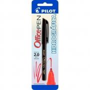 Caneta Ponta Porosa Office Pen 2.0mm Preto Pilot 12397