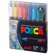 Caneta Posca PC 1MR 8C Estojo 8 Cores Basicas 59.1300 29415