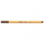 Caneta Stabilo Point 88/45 Fine 0.4 Extrafina Marrom Escuro 13213