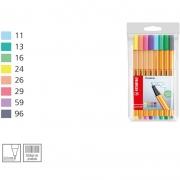 Caneta Stabilo Point 88/8-01 Fine 0.4 Extrafina 8 Cores Pastel 53.3000 24701