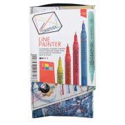 Caneta Técnica Nankin Derwent Graphik Line Painter N1 0.5 5 Cores 699551 29273